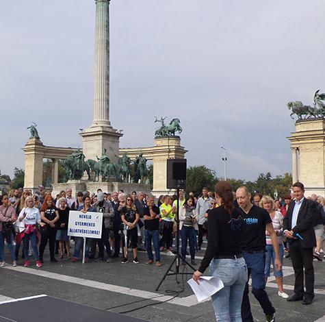 Tüntetés az állatkínzás ellen 2019